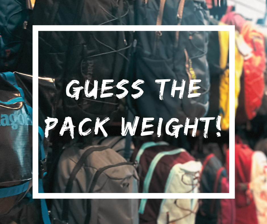 Guess the Pack Weight